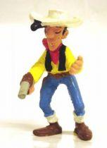 Lucky Luke - Schleich - pvc figure Lucky Luke with gun & skewerable straw (used)