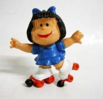 Mafalda (blue) with rollers (red) Comics Spain pvc figure
