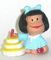 Mafalda with birthday cake (blue) Comics Spain pvc figure