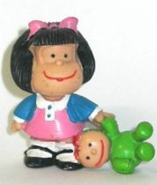 Mafalda with doll (blue & pink) Comics Spain pvc figure
