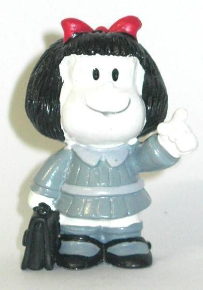 Mafalda with schoolbag (black & white) Comics Spain pvc figure