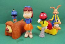 Magic Roundabout - Bechet PVC figures - Zebedee, Florence, Dougal, Brian, Dylan & Zeebad