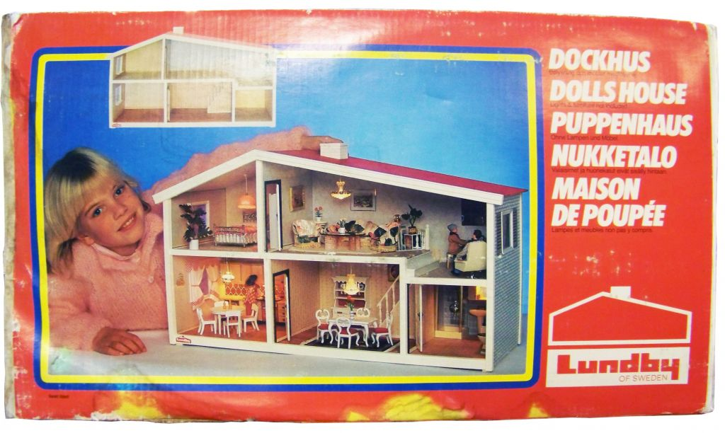 maison de poup es 70cm lundby of sweden 1985 neuve en boite. Black Bedroom Furniture Sets. Home Design Ideas