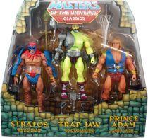Maitres de l\'Univers MOTU Classics - Stratos, Trap Jaw, Prince Adam (Power-Con Exclusive)