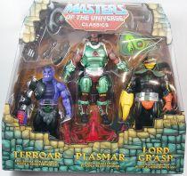Maitres de l\'Univers MOTU Classics - Terroar, Plasmar, Lord Gr\'Asp (Power-Con Exclusive)