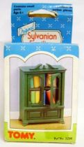 Mapletown - Sylvanian families - Village - Furnitures set - Living Room Glass fronted bookcase (mint in box)