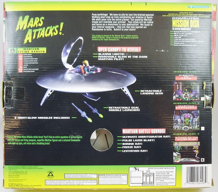 Mars Attacks! - Trendmasters - Martian Flying Saucer