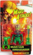 Mars Attacks! - Trendmasters - Set of 4 Martians : Ambassador, Leader, Trooper, Spy Girl