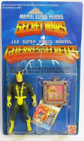 Marvel Secret Wars - Electro (Europe card)