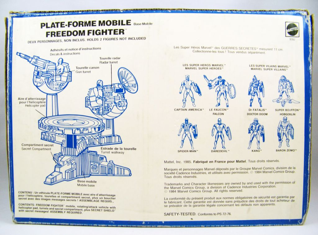 Marvel Guerres Secrètes - Freedom Fighter - Plate-forme Mobile (neuf en boite) 04
