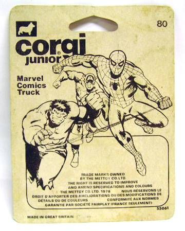 Marvel Super-Heroes - Corgi Junior ref. 80 - Marvel Comics Truck (Mint on Card)