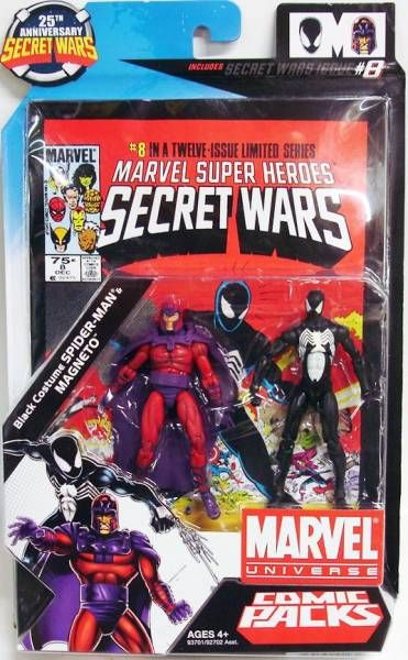 Marvel Universe Comic Pack - Secret Wars #8 - Black Costume Spider-Man u0026 Magneto & Marvel Universe Comic Pack - Secret Wars #8 - Black Costume Spider ...