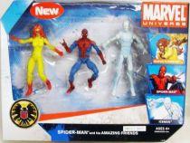Marvel Universe Multi-Pack - Amazing Friends :  Firestar, Spider-Man, Iceman