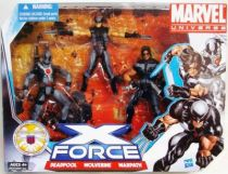 Marvel Universe Multi-Pack - X-Force : Deadpool, Wolverine, Warpath