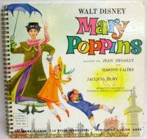 Mary Poppins - Record-Book LP - Ades Record / Le Petit Menestrel 1964