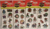 M.A.S.K. - Set of 4 Glitter Stickers packs - Kenner