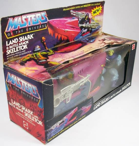 Masters of the Universe - Battle Armor Skeletor & Land Shark gift-set (USA box)