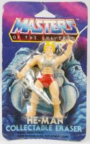 Masters of the Universe - Eraser figure - He-Man (Mint on card)