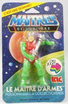 Masters of the Universe - Figurine-gomme Le Maitre d\'Armes (Orli-Jouet) - neuve sous blister