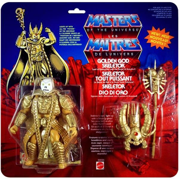 Masters of the Universe - Golden God Skeletor / Skeletor Tout Puissant (carte Europe) - Barbarossa Art