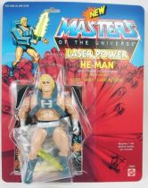 "Masters of the Universe - Laser Power He-Man / Musclor Glaive Suprême ""original head\"" (carte USA) - Barbarossa Art"