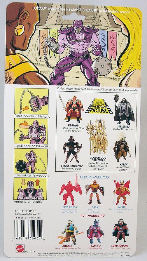 Masters of the Universe - Lodar (USA card) - Barbarossa Art