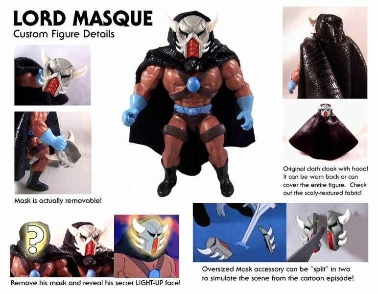 Masters of the Universe - Lord Masque (USA card) - Barbarossa Art