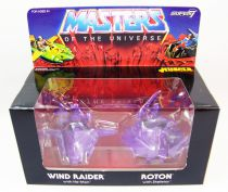 Masters of the Universe - M.U.S.C.L.E. Wind Raider & Roton (purple) - Super7