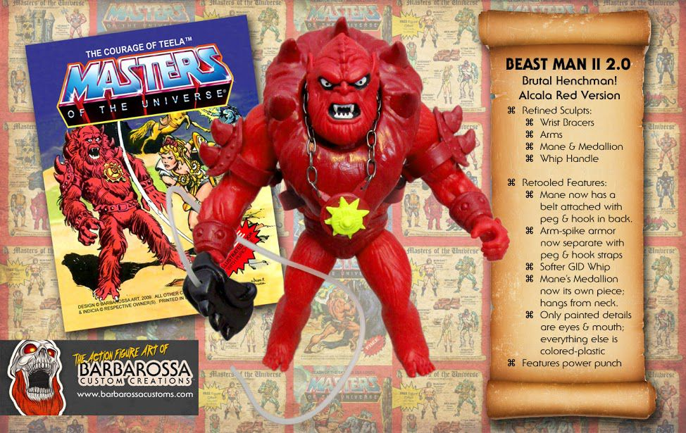Masters of the Universe - Savage Eternia Beast Man (USA card) - Barbarossa Art