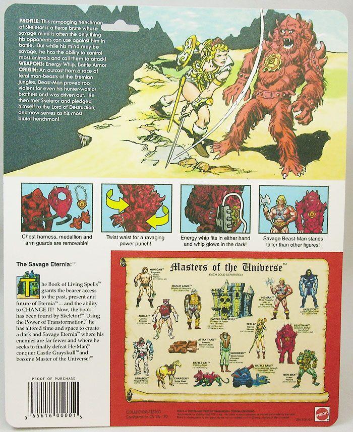 Masters of the Universe - Savage Eternia Beast Man (USA card) - Barbarossa Art