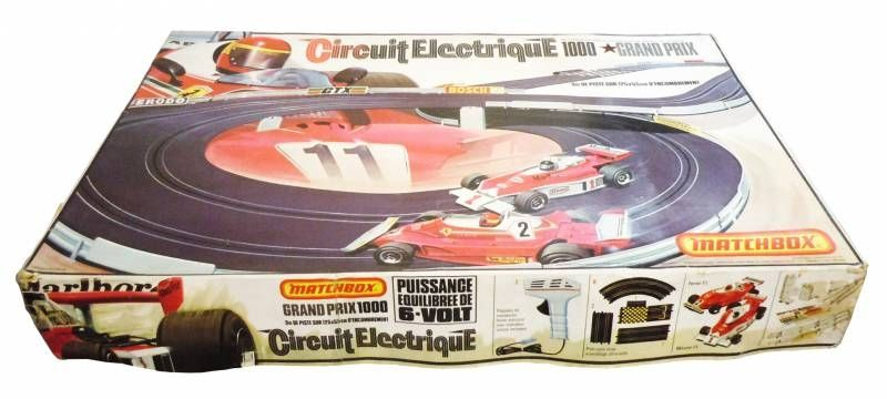 Matchbox - Powertrack  PT-1000 Grand Prix  (Ferrari F1 & McLaren F1) used with box