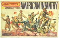 Matchbox figures 76� WW2 American Infantry loose with box