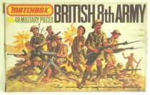 Matchbox figures 76° WW2 British 8th Army loose with box