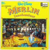 Merlin l\'Enchanteur - Disque 45T - Disques Ades Disneyland Records 1963