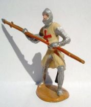 Merten 40mm - Middle Age - Footed Crusader spear (red cross) (ref 347)