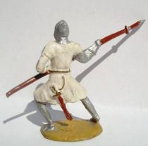 Merten 40mm - Middle Age - Footed Crusader with spear (blue cross) (ref 347)
