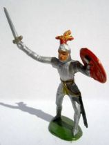 Merten 40mm - Middle Age - Footed Knight sword & red shield (ref 350))