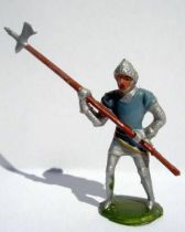 Merten 40mm - Middle Age - Footed Trooper pick (blue tunic) (ref 346)