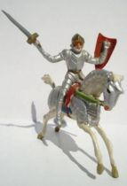 Merten 40mm - Middle Age - Mounted Knight Raising sword red long shield