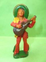 Mexicans - Series 54 - Footed guitar (red - yellow scarf) (ref 245)