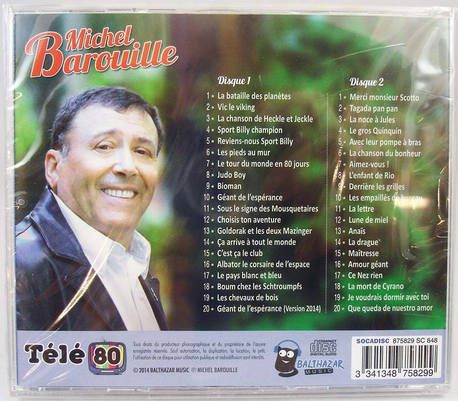 Michel Barouille : from Bioman to Albator - Compact Disc - Original TV series soundtracks