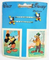 Mickey & Friends - Set of 6 vintage hair clip displays - Delcia