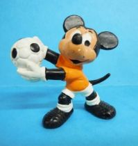 Mickey and friends - Bully 1977 PVC Figure - Mickey  Soccer player with orange t-shirt