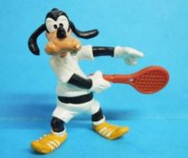 Mickey and friends - Bully 1980 PVC Figure - Goofy tennis player
