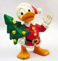 Mickey and friends - Bully 1984 PVC Figure - Donald Duck as Santa