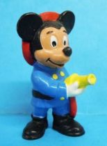 Mickey and friends - Bully 1985 PVC Figure - Mickey Fireman