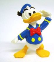 Mickey and friends - Bully 1986 PVC Figure - Donald (sailor saluting)