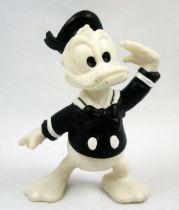 Mickey et ses amis - Figurine PVC Bully 1986 - Donald (noir & blanc)