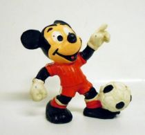 Mickey and friends - Bully PVC Figure - Mickey  Soccer player with red t-shirt