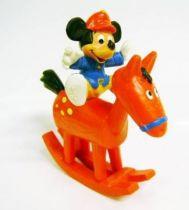 Mickey and friends - Bully PVC Figure - Mickey Jockey on Rocking Horse